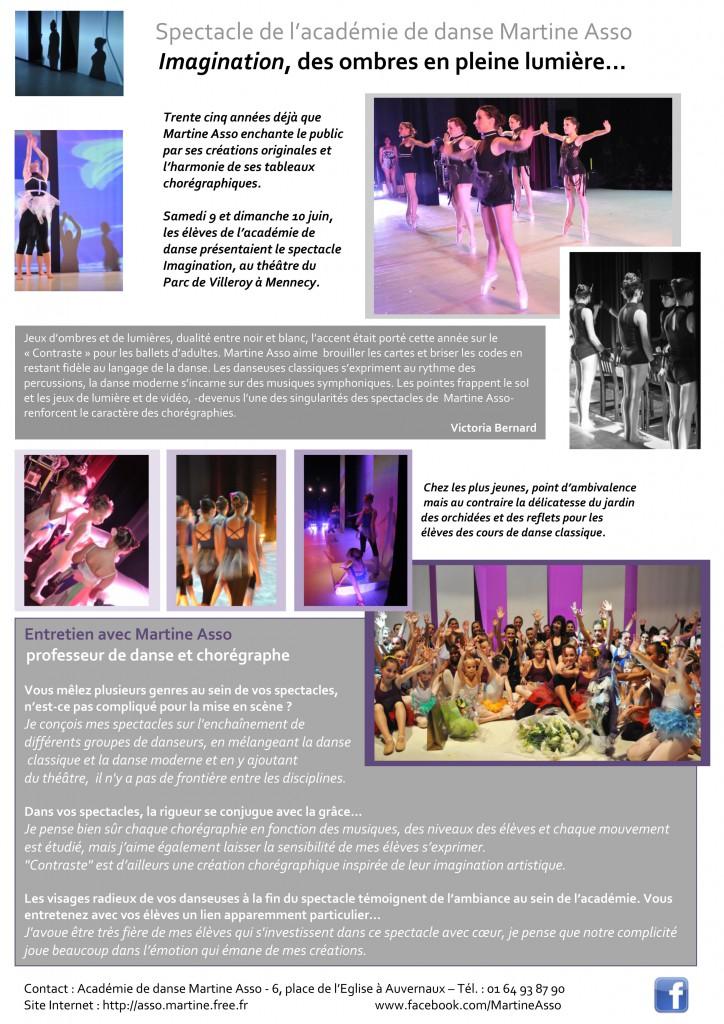 Spectacle de l'académie de danse Martine Asso